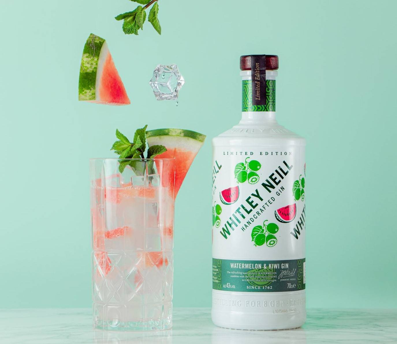Obrázok k ginu Whitley Neill Watermelon & Kiwi Gin