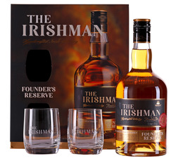 The Irishman Founder's Reserve s 2 pohármi